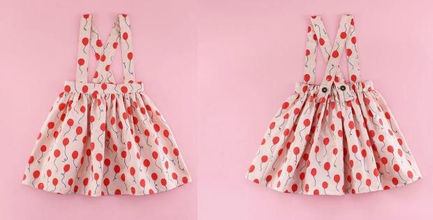 Suspender Skirt sewing pattern