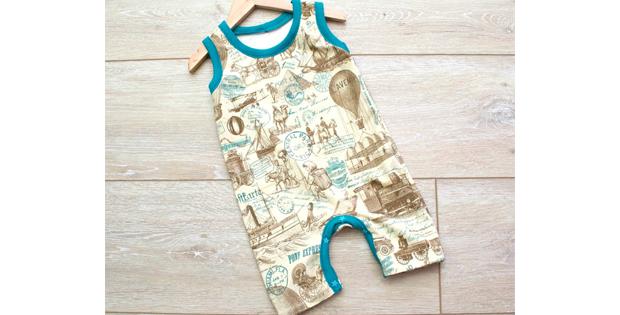 Free Runaround Baby Romper sewing pattern (Size 12-18 months)