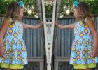 Peep Hem Dress FREE tutorial & pattern (Size 5)