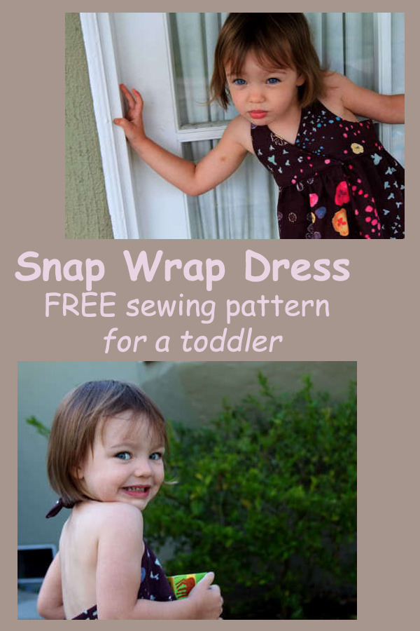 Snap Wrap Dress FREE sewing pattern for a toddler