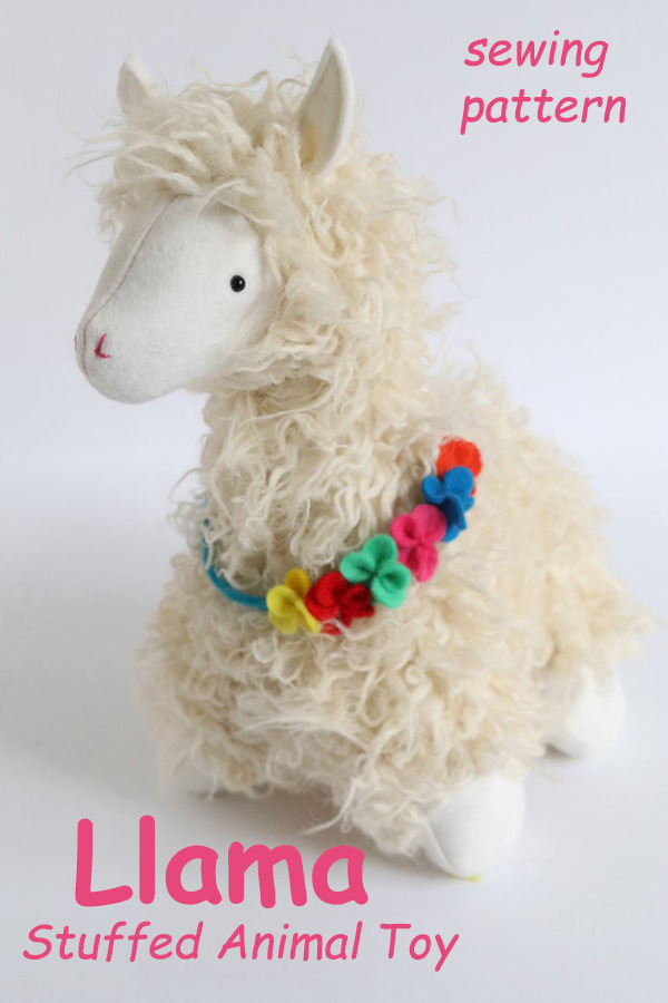 Llama Stuffed Animal Toy sewing pattern
