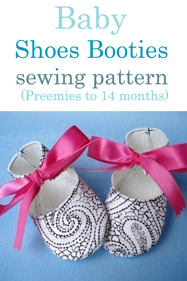 Baby Shoes Booties sewing pattern (Preemies to 14 months)