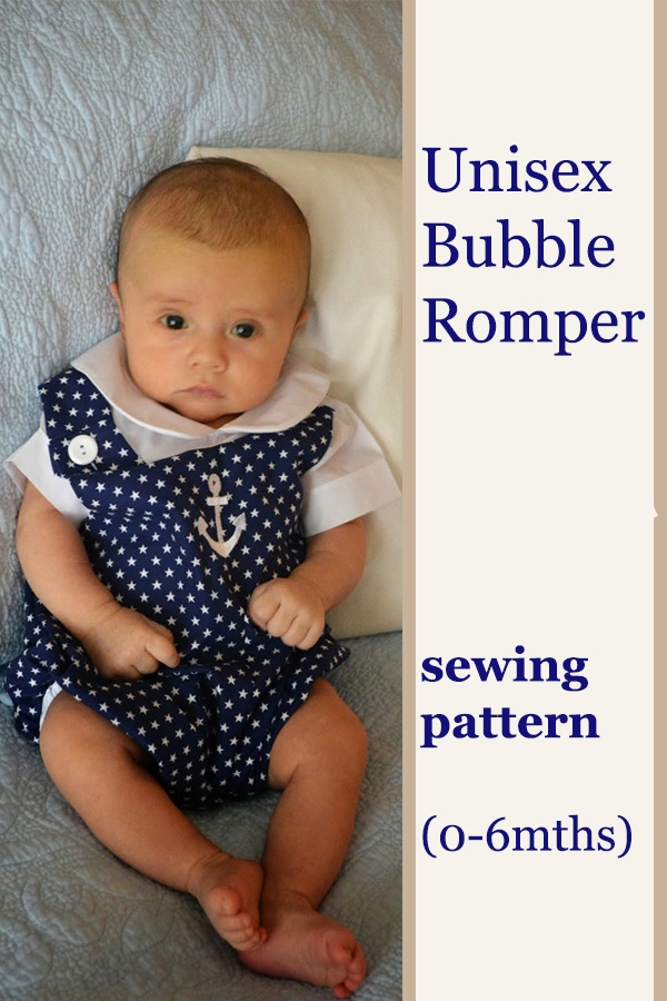 FREE Unisex Bubble Romper sewing pattern (0-6mths)