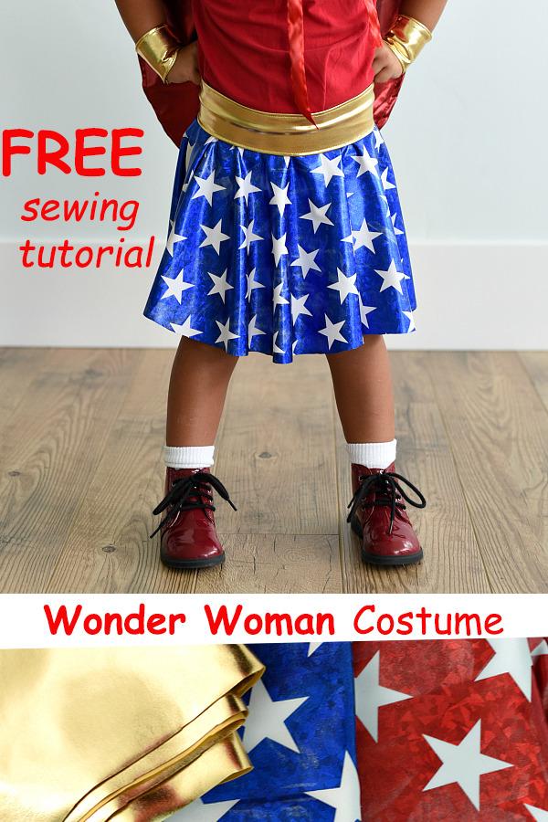 Wonder Woman Costume FREE sewing tutorial