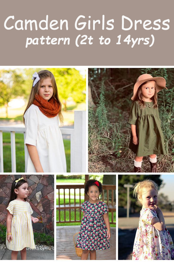 Camden Girls Dress pattern (2t to 14yrs)