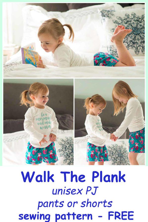 Walk The Plank unisex PJ pants or shorts sewing pattern - FREE