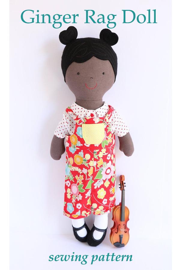 Ginger Rag Doll sewing pattern