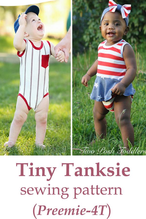 Tiny Tanksie pattern (Preemie-4T)
