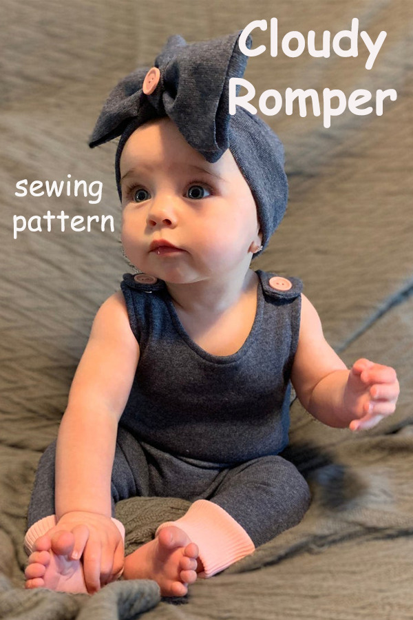 Cloudy Romper sewing pattern