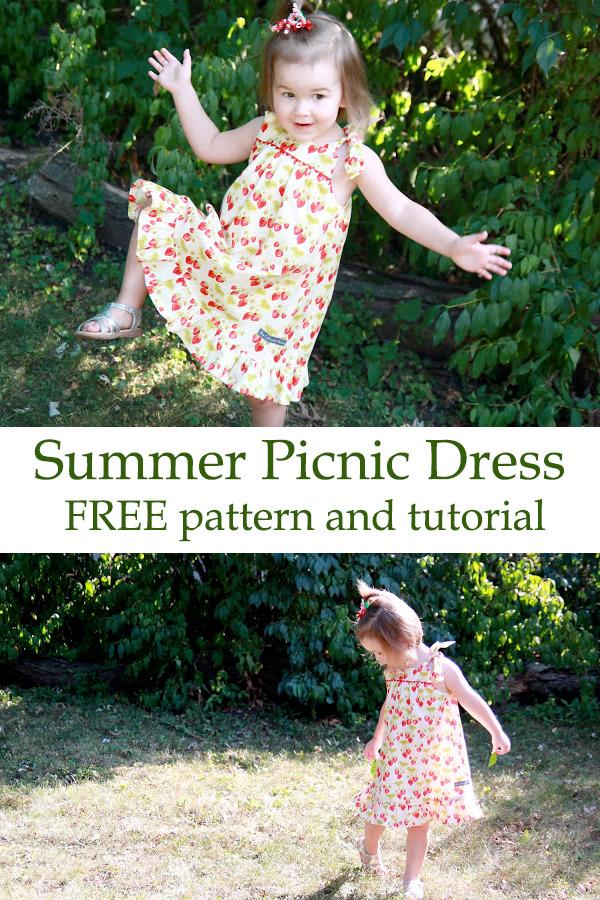 Summer Picnic Dress FREE pdf pattern and tutorial