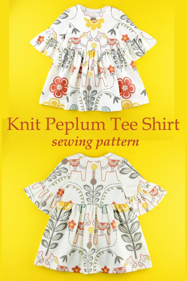 Knit Peplum Tee Shirt sewing pattern