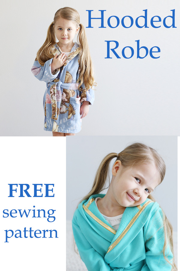Hooded Robe free sewing pattern