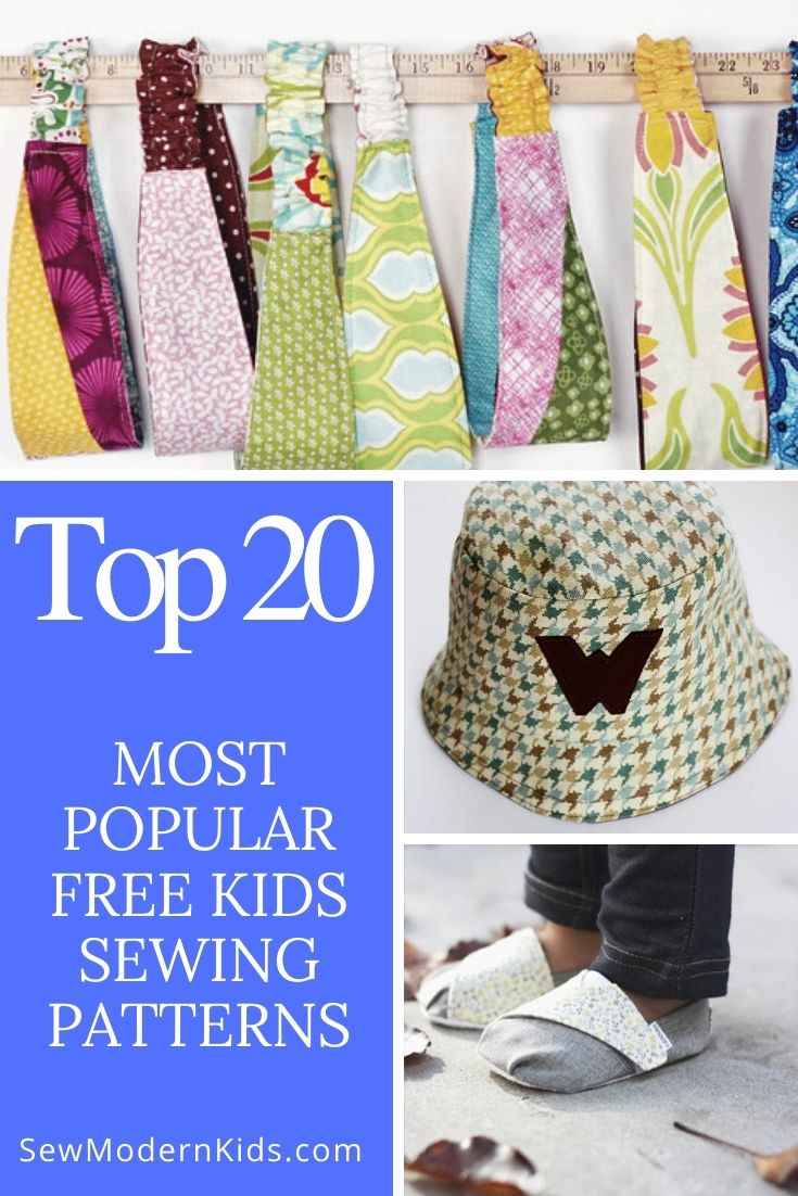 Our 20 most popular FREE kids sewing patterns