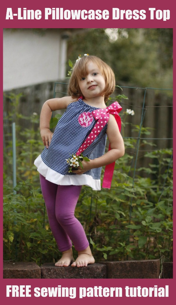 A-Line Pillowcase Dress Top FREE sewing pattern tutorial