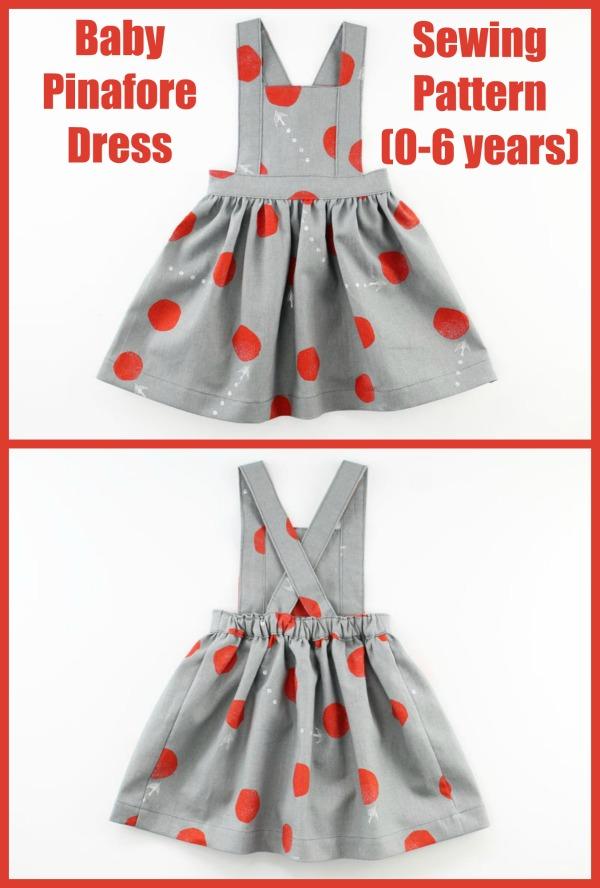 Baby Pinafore Dress sewing pattern (0-6 years)