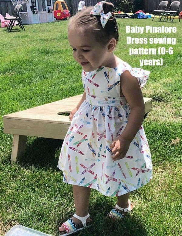 Dress sewing pattern (0-6 years)