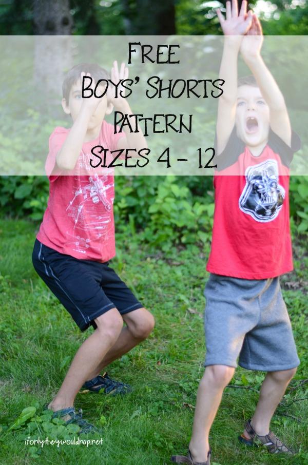 FREE Summer Breezy Boys Shorts sewing pattern (Sz 4-12)