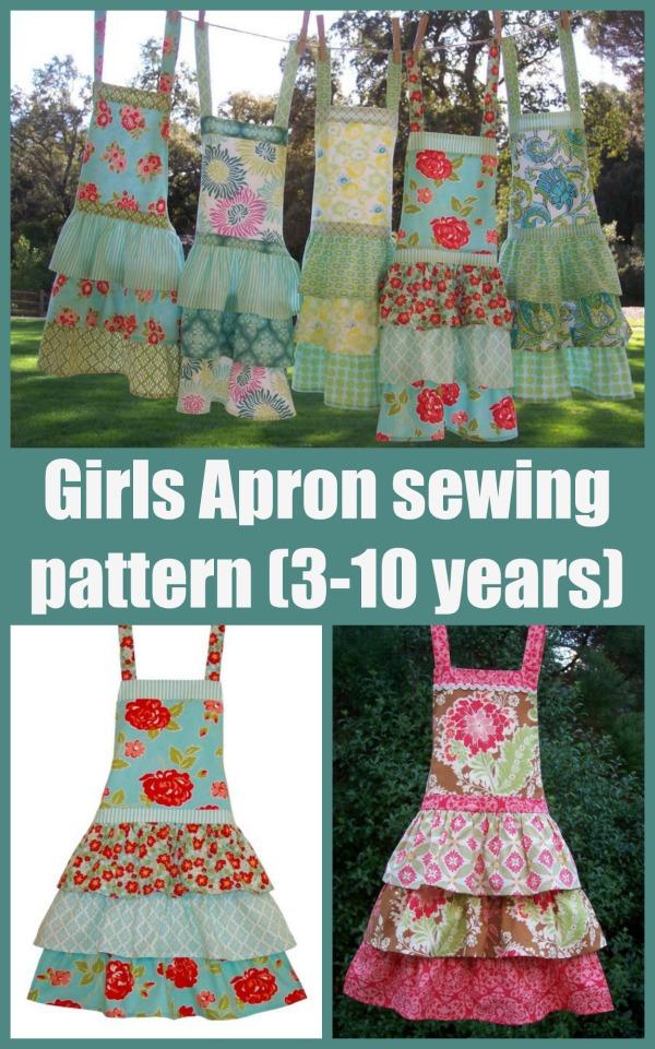 Girls Apron sewing pattern (3-10 years).