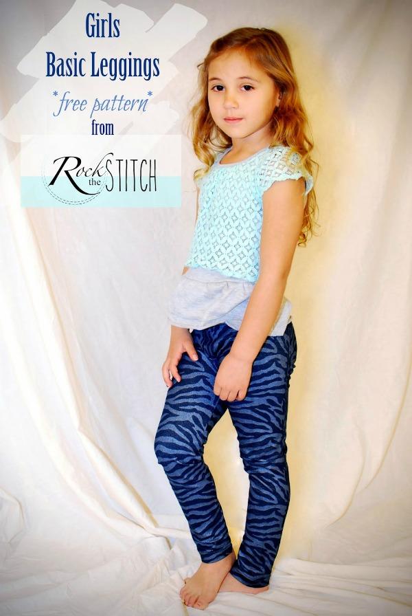 Girl's Basic Leggings FREE pattern (Size 6)