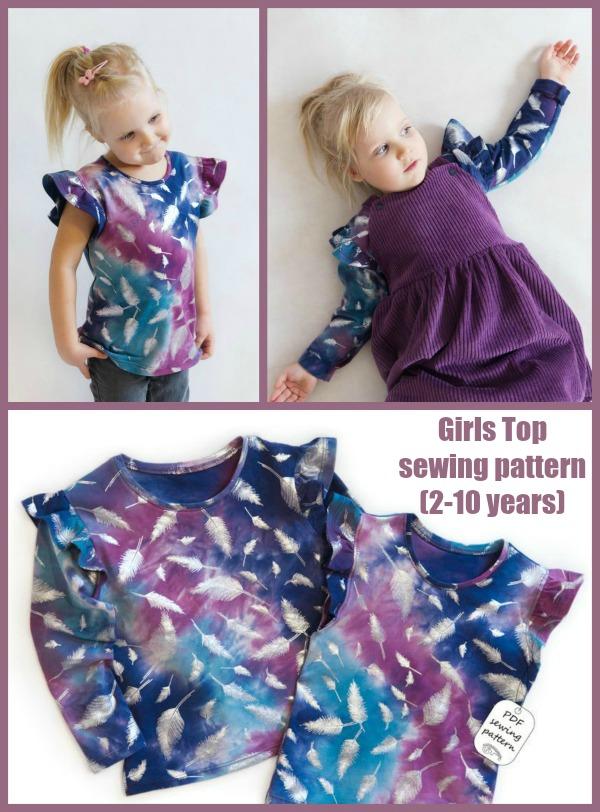 Girls Top sewing pattern (2-10 years)