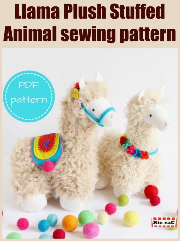 Llama Plush Stuffed Animal sewing pattern