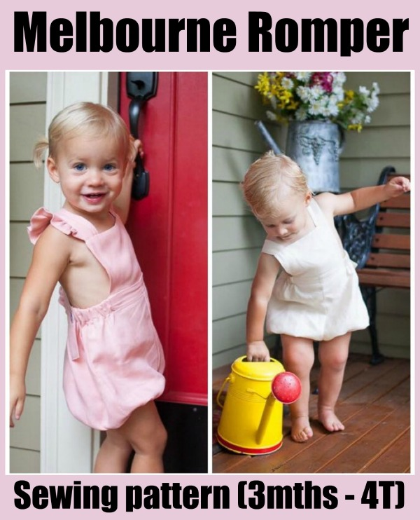 Melbourne Romper sewing pattern (3mths - 4T)