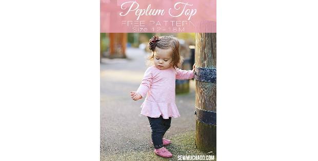 Peplum Top FREE sewing pattern (12-18mths)