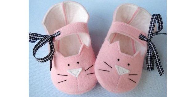 Precious Kitty Baby Booties pattern (Newborn - 14 months)