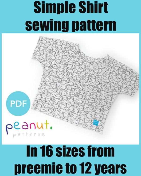Simple Shirt sewing pattern (Preemie to 12 years)