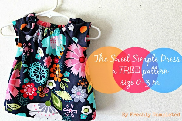 The Sweet Simple Dress FREE sewing pattern (0-3 months)