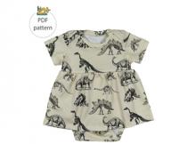 Baby Girl Onesie Dress pattern (Newborn-3yrs)