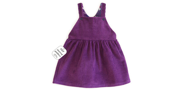 Dungaree Skirt sewing pattern (1mth-10yrs)