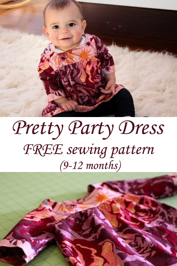 Pretty Party Dress FREE sewing pattern (9-12 months)