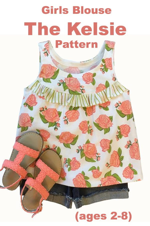 "Girls Blouse ""The Kelsie Pattern"" (ages 2-8)"