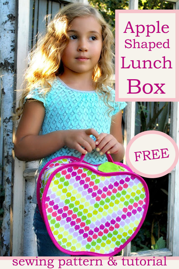 Apple Shaped Lunch Box Free sewing pattern & tutorial