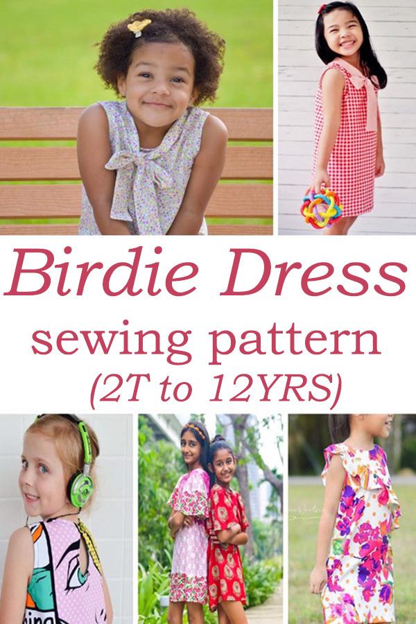 Birdie Dress pattern (2T to 12YRS)