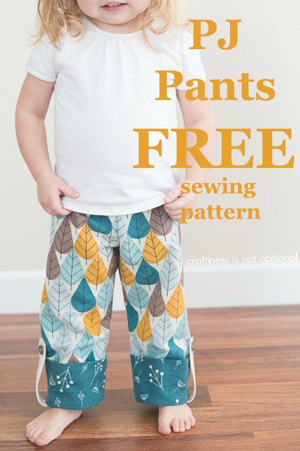 PJ Pants FREE sewing pattern