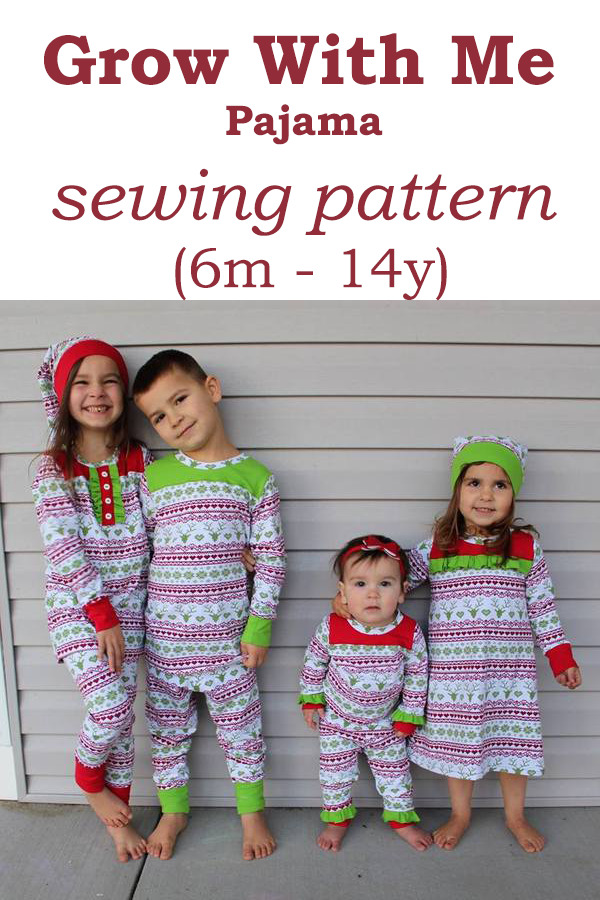 Grow With Me Pajama sewing pattern (6m - 14y)