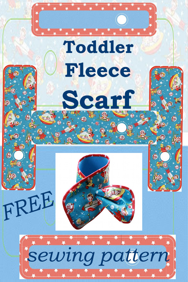 FREE Toddler Fleece Scarf sewing pattern