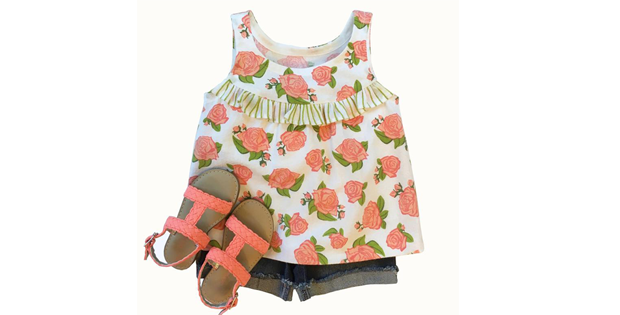"""Girls Blouse """"The Kelsie Pattern"""" (ages 2-8)"""
