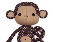 Cute Monkey Cloth Doll Plushie sewing pattern