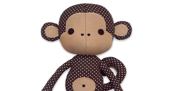 Cute Monkey Cloth Doll Plushie sewing pattern