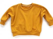 Lounge Sweatshirt sewing pattern (0-6T)