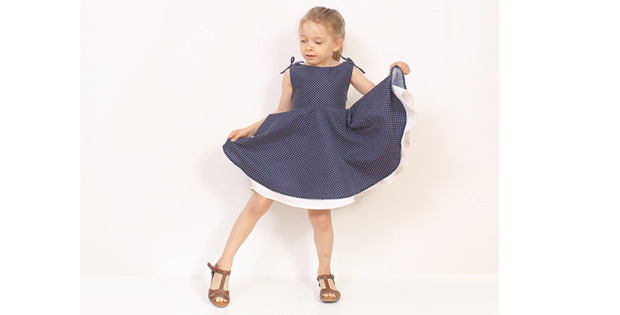 Adria Full Circle Dress sewing pattern (2T-10Y)