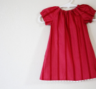 Infant Peasant Dress FREE pattern, tutorial + video (size 0-3 months)