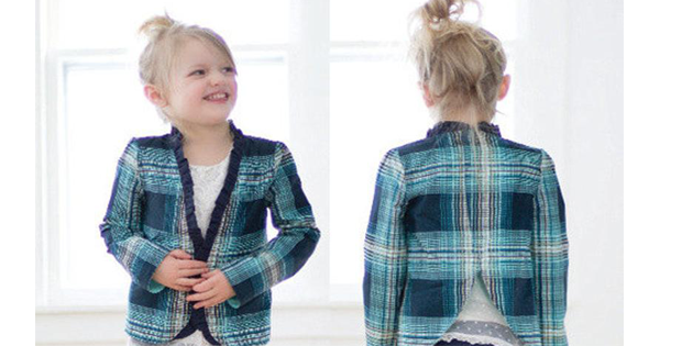 Braxton's Blazer sewing pattern for girls (sizes 2T-12yrs)