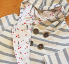 Double-Breasted Hooded Sweatshirt FREE pattern (18mths)