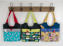 Three Pocket Tote Kids Bag sewing pattern