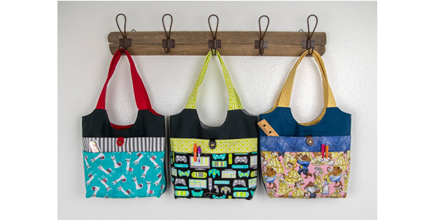 Three Pocket Tote Kids Bag sewing pattern