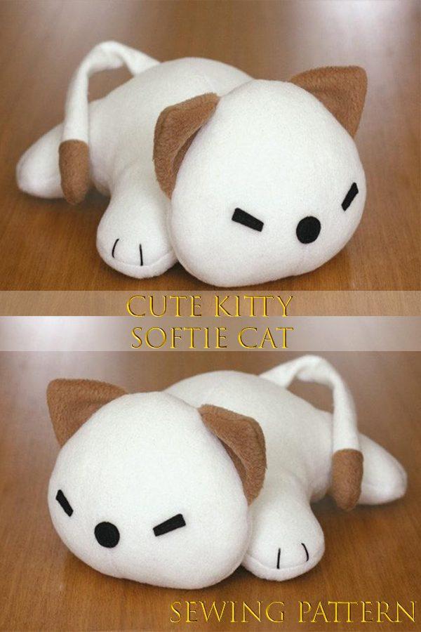 Cute Kitty Softie Cat sewing pattern